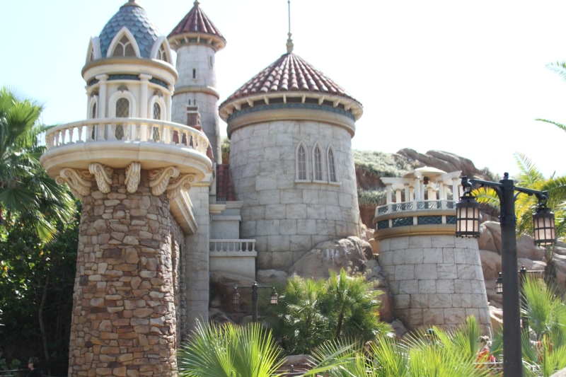 Prince Eric's castle, as part of the exterior of The Little Mermaid ride.